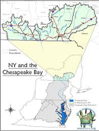 New York Map Us by Map Of New York U0027s Chesapeake Bay Watershed Nys Dept Of