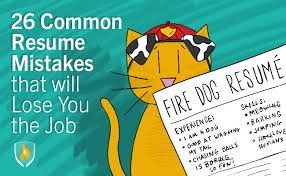 How To Make A Simple Job Resume by 26 Common Resume Mistakes That Will Lose You The Job