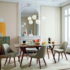 mid century expandable dining table walnut west elm uk