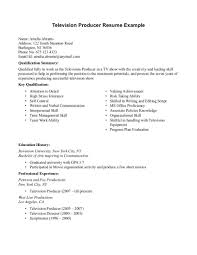 Qualifications Summary Resume Example by Television Producer Resume Sample Http Resumesdesign Com