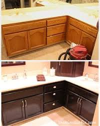 Kitchen Cabinets Stain Glazing Kitchen Cabinets As Easy Makeover You Can Do On Your Own