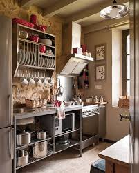 small rustic country kitchen design with grey accents combined