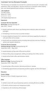Customer Service Resume Example  great customer service resumes       Best Customer Service Resume Examples        customer service resume example