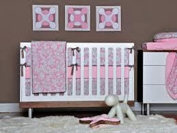 interior pink and gray crib bedding nursery design pink and gray
