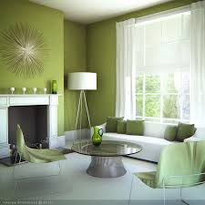 Green Living Rooms Home Design Ideas - Green paint colors for living room