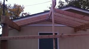 Simple Covered Patio Designs by Building A Patio Cover Patio Cover Installation Part 1 Youtube