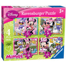 Minnie Mouse Toy Box Ravensburger Disney Minnie Mouse 4 In A Box Puzzle 6 00