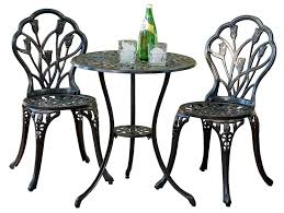 Black Wrought Iron Patio Furniture Sets by Amazon Com Best Selling Nassau Cast Aluminum Outdoor Bistro