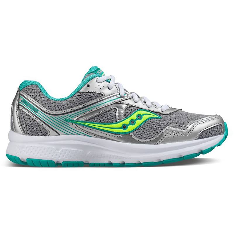 Saucony Grid Cohesion Fabric Low Top Lace Up, Grey/Teal/Citron,