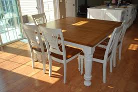 furniture extendable dining table set farmhouse dining table