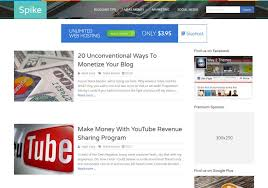 spike responsive blogger template 2014 free download blogger templates