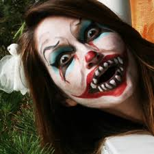clown face paint this time with less pointed teeth which oddly