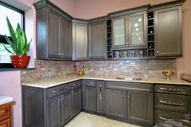 gray painted kitchen cabinets with stainless perfect gray