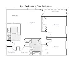 Garage Floorplans Creative Bedroom Bungalow With Garage Floor Plans Hallkeen