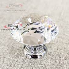 Kitchen Cabinet Door Knobs And Handles by 30mm Zinc Alloy Clear Crystal Sparkle Glass Kitchen Cabinet Knobs