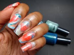 nail a college drop out new york color water marble