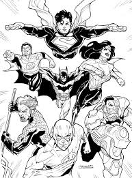 dcnu justice league 2011 by guinnessyde on deviantart coloring