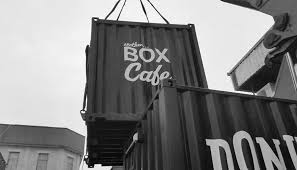 converted shipping container cafes the box brand