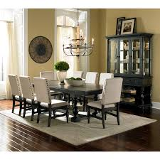 Black And White Dining Room Chairs Steve Silver Cayden 9 Piece Dining Table Set With Optional Buffet