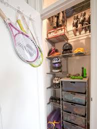 Bedroom Wall Unit Closets Tips For Organizing A Small Reach In Closet Hgtv U0027s Decorating