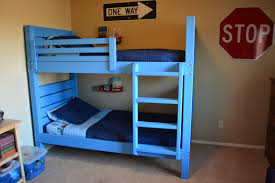 Ana White Side Street Bunk Beds With Modified Ladder DIY - Ladder for bunk bed