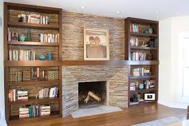 fireplace surrounds with bookcases built entertainment