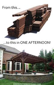 Custom Gazebo Kits by Best 20 Wood Pergola Kits Ideas On Pinterest Deck Decking