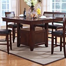 Patio Furniture Counter Height Table Sets - new classic kaylee counter height table with storage pedestal base