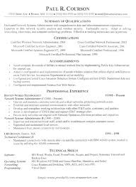Example Of Resume No Experience by Linux Sys Administration Sample Resume Haadyaooverbayresort Com