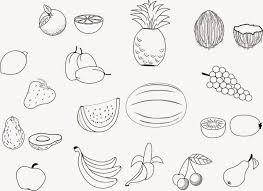 grand fruits coloring pages printable healthy eating chart