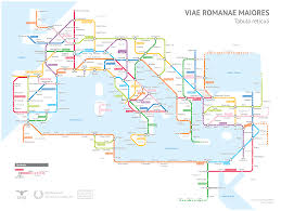 Chicago On The Map by A Tube Style Map Of Roman Roads Big Think
