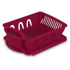 Plastic Dish Drying Rack Sterilite Utility Sink Set 2 Piece 06215806 The Home Depot