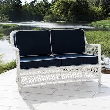 White Resin Wicker Outdoor Patio Furniture Set - everglades white resin wicker patio loveseat by lakeview outdoor