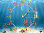 Wallpapers Backgrounds - Aquarium Clock screensaver always current fun