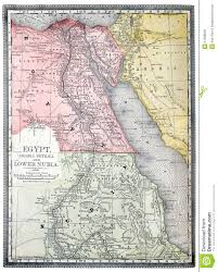 Map Egypt Old Map Of Egypt Stock Photos Image 11608593