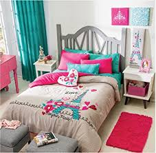 Bed Comforter Sets For Teenage Girls by Amazon Com Paris Chic Eiffel Tower French Teen Girls Comforter