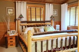 log cabin makeover fox den rd rustic bedroom