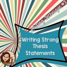 a good thesis statement FAMU Online