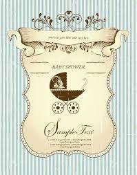 Baby Shower Invitation Cards Templates Vintage Baby Shower Invitations Theruntime Com