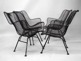 Mesh Patio Chair Furniture Set Of Eight Wire Mesh Sculptura Chairs In White By