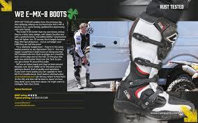 motocross half boots w2 e mx8 motocross boots black