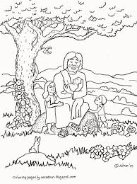 jesus loves the little children coloring page coloring pages