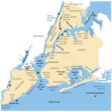 New York State Map by New York City Region Fish Advisories