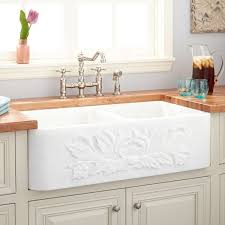 Polished Marble Farmhouse Sink Carrara Kitchen - Marble kitchen sinks