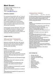 Example Resume Teachers Resume Objectives Subtitute Teacher And JFC CZ as