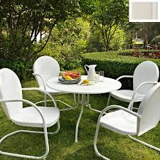 5 Pc Patio Dining Set - shop crosley furniture griffith 5 piece white steel patio dining