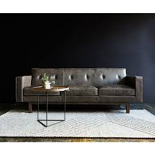 Mid Century Modern Sofas by Gus Embassy Modern Saddle Gray Leather Sofa Eurway