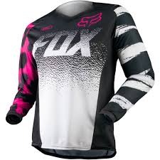 ladies motocross gear all new fox racing 2015 womens 180 jersey black pink wide