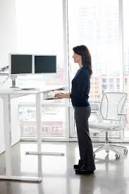 float humanscale u0027s height adjustable sit stand table
