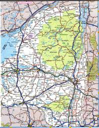 New York State Map by New York